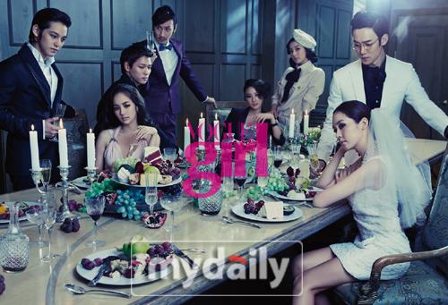 KimBum, ParkMinYoung, SongYuRi, & 8 artis KingKong for Vogue Girl Valentine Special Edition 2011011708220144194_082210_21